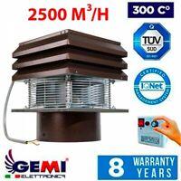 CHIMNEY FAN round flue 30 cm Exhaust fan chimney draft Extractor FLUE FAN Roof
