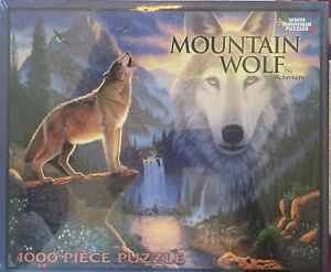 "White Mountain Puzzles 1000 pieces Mountain Wolf by Robin Koni huge 24"" x 30""!!!"