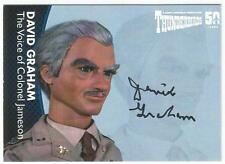 Thunderbirds 50 Years Auto Card DG6 David Graham Voice of Colonel Jameson