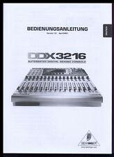 BEHRINGER DDX 3216  BEDIENUNGSANLEITUNG