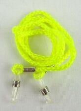 Brillenband Brillenkordel Brillenkette Nylon neon gelb Ösen transparent silber