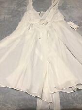 flora by Flora Nikrooz Nightgown 2X White Women's Sleepwear See-through NWT