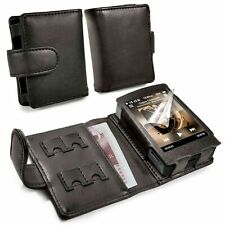 TUFF LUV Genuine Western Leather Case Cover for Cowon Plenue D / D2 - MP3 - Blac