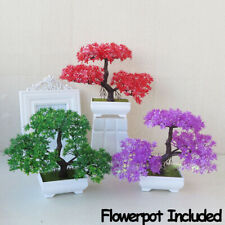 Welcoming Pine Artificial Potted Simulation Bonsai Plastic Flowers Fake Plants