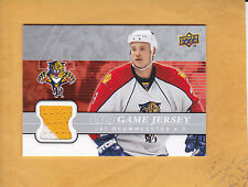 JAY BOUWMEESTER 2008 09 UPPER DECK UD GAME JERSEY # GJ-JB FLORIDA PANTHERS