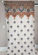 "Hillcrest Curtains 47""x 93"" Ivory Multicolored Cotton Marikesh EUC"