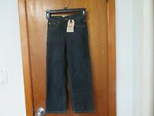 LEVIS BOY'S 505 SLIM JEANS SIZE 7X DARK WASH INSEAM 21""