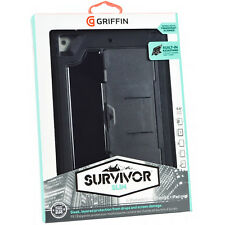 Genuine Griffin Survivor Rugged Slim Case Cover Stand For iPad Mini 1/2/3 Black