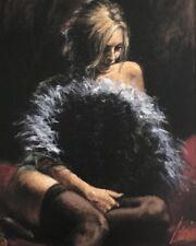 "Fabian Perez ""ABANICO DE PLUMAS"" 24''x20'' AP 2007 Giclee on Canvas - L"
