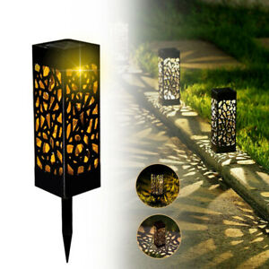 4 x Warmweiße Solarlampe Garten Solarleuchte LED,IP55 Terrasse Gartenleuchte DHL