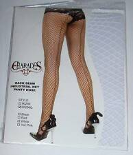 CHARADES Back Seam Industrial Net Fishnet Pantyhose Stockings - White Queen Size