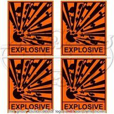 "EXPLOSIVE Safety Warning Sign Explosion Danger 50mm(2"") Vinyl Stickers-Decals x4"