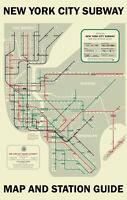 1958 New York Subway Map Poster 11x17