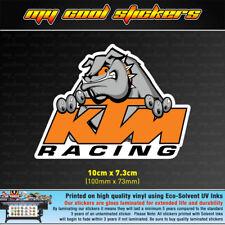 KTM Racing Bulldog Vinyl Sticker Decal, 4X4 Ute Car Motorbike racing MX