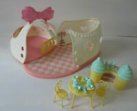 My Little Pony Satin Slipper Sweet shoppe Ice Cream Shop Toy Lot
