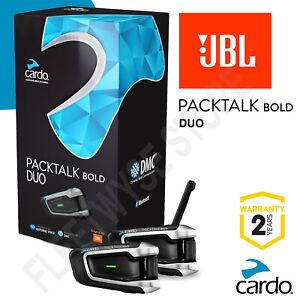 Cardo Scala Rider PACKTALK BOLD Duo Twin Set - JBL Speakers UK STOCK