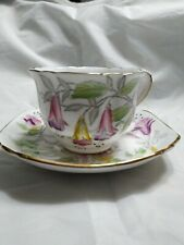"Vintage Royal Stafford ""Fuchsia "" Bone China Tea Cup & Saucer -England"