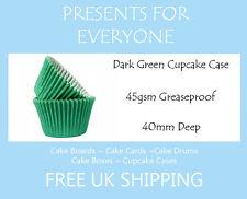 50 x Dark Green Muffin / Cupcake Cases