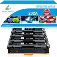 4x Black Toner Compatible for HP 202A CF500A LaserJet Pro M254dw M281cdw M281fdw