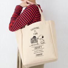 Snoopy Peanuts Canvas Tote Shoulder Shopping Bag Shopping Cart