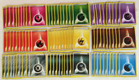 POKEMON TCG : 90 BASIC ENERGY CARDS LOT - 10 OF EACH TYPE - FAIRY METAL DARKNESS