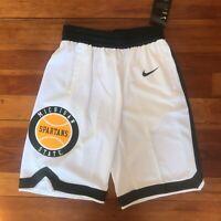 NEW SIZE SMALL Nike Elite Michigan State Spartans Basketball Retro Shorts $60