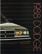1988 Dodge Brochure : DAYTONA,DYNASTY,SHADOW,CARAVAN,LANCER,600,OMNI,ARIES,COLT,