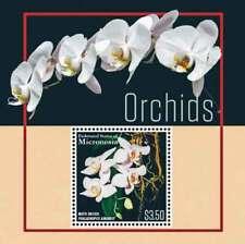 Micronesia 2015 MNH Flowers Flora Moth Orchid Stamp Souvenir sheet Flowers