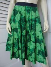 EDME & ESYLLTE ANTHROPOLOGIE Skirt 2 Cotton Floral Circle Flouncy CHIC!!