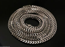 """Italian Mens Women 14k White Gold Necklace Franco Rope Chain 2.5mm 20"""" 20 inch"""