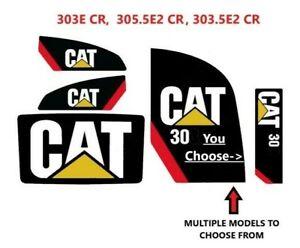 CATERPILLAR 303E 305.5E2 303.5E2 CR Decals MINI Excavator Stickers 3M CAT E 2