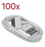 100x USB Charger Cable 3ft Sync Data Charging Cord Apple iPhone 4/4S/iPad/iPod
