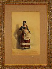 Juan Antonio BENLLIURE  (Spanish 1860-1930) watercolor painting signed 1884