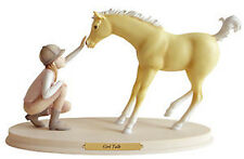 NEW Horse Whispers Whisperers GIRL TALK Resin Figurine Hand Painted Ponies Pony