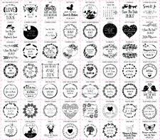 Personalizado Save The Date láser Sellos De Goma Varios Tamaños cuadrado de 56 Diseños