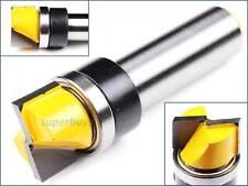 "1/2"" x 11mm x 19mm Top Bearing Wood Edge Straight Flush Trim Router Cutter Tool"