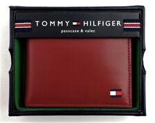 Tommy Hilfiger Men's Passcase Billfold Wallet with Removable Card Holder Red