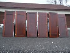 """Sold separate Antique Vintage Panel Wood Pocket Doors 80"""" by 32"""" by 1 1/4"""""""