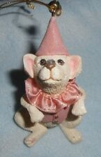 Performing Dog Resin Ceramic Ornament in Pink Outfit
