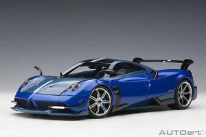 Autoart 1/18 Pagani Huayra BC (Blue Francia/Carbon), brand new