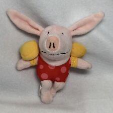 "Olivia The Pig In Swimsuit & Water Wings Beach Plush Figure Floaties 6"""