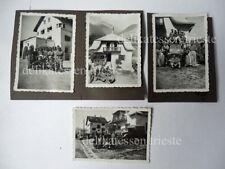 4 FOTO dogana Müstair Tubre Svizzera militari italiani 1945 Bolzano Val Monaster