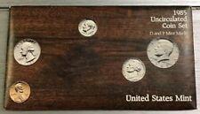 1985 Uncirculated Coin Set P&D Mints 10 Coins