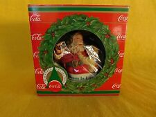 "Coca Cola ""CHRISTMAS IS LOVE""  Ornament (1990) TRIM A TREE  New Condition"