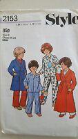 Vintage Sewing Pattern Style 2153 Childs Nightwear Size 6