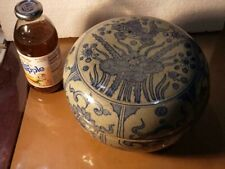 Southeast Asia Covered Box Pottery - Chinese Swatow Ware?