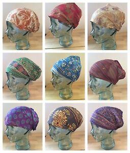 Fairtrade Silky Headband Elastic Hair Stretch Bandana Boho Hippy Colourful INDIA