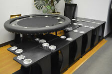 4pcs Classic Poker Table Drink Carts Black Color