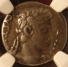 Roman Augustus 27BC – 14AD Fourree Silver Plated Denarius Ancient Forgery NGC!
