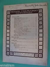 Menuet in E Violin + Piano 1921 sheet music Richard Czerwonky